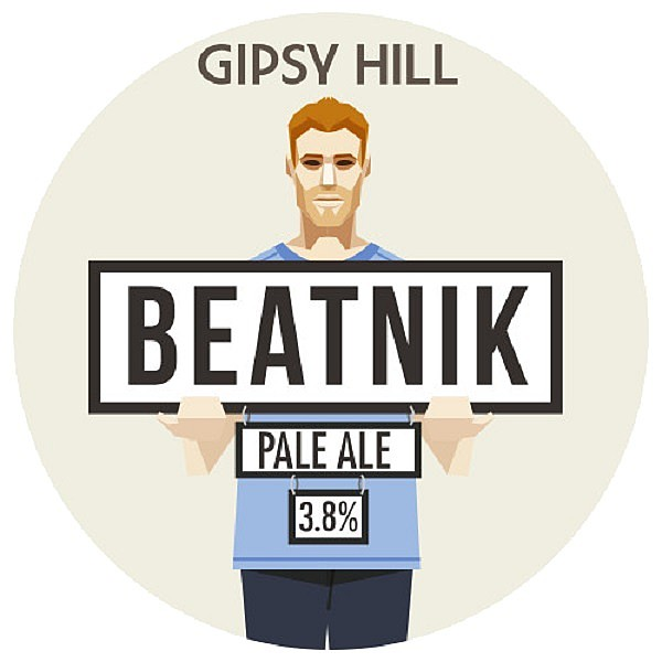 Gipsy Hill Beatnik Round Flat Tap Badge