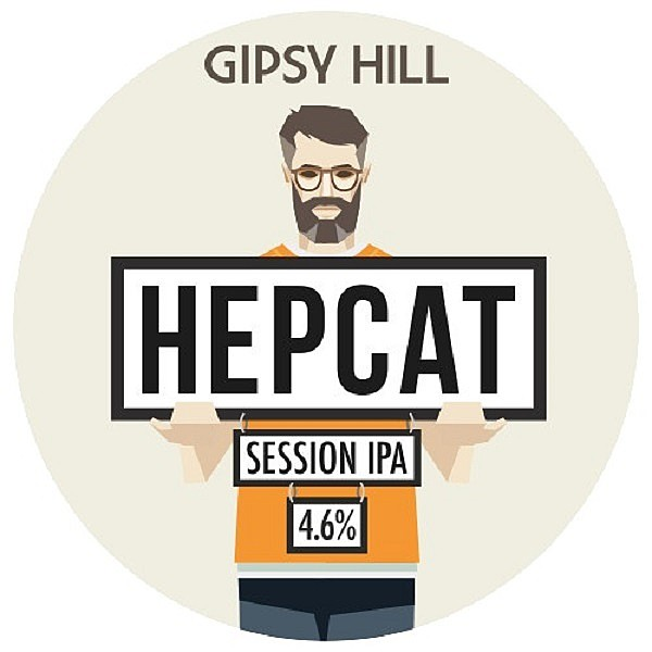 Gipsy Hill Hepcat Round Fish Eye Tap Badge