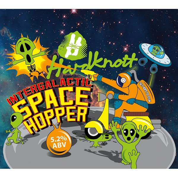 Intergalactic SpaceHopper Round Flat Badge