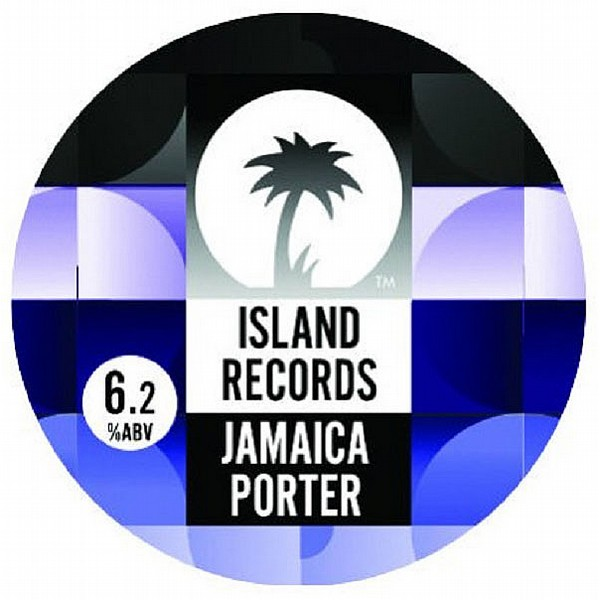 Island Records Jamaica Porter Round Badge