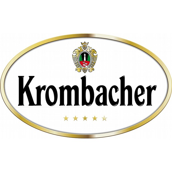 Krombacher Stemmed Pint Glasses x6