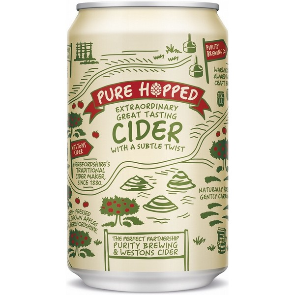 Pure Hopped Cider Can