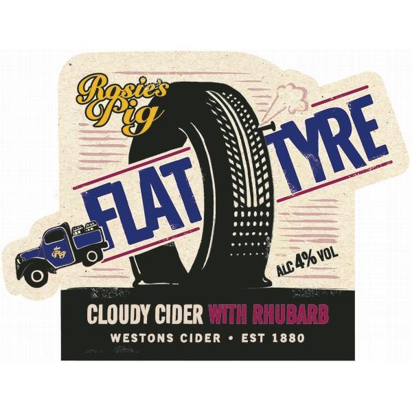BIB Rosie's Pig Flat Tyre Rhubarb