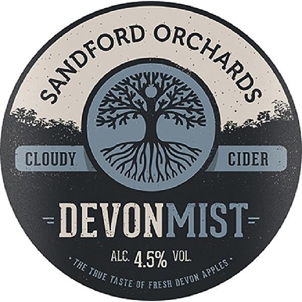 Sandford Devon Mist Round Fish Eye Badge