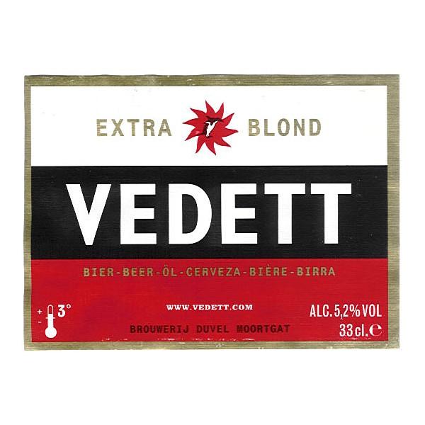 Vedett Blonde Round Fish Eye Badge