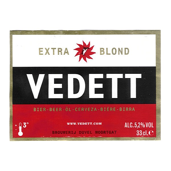 Vedett Blonde Oval Fish Eye Badge
