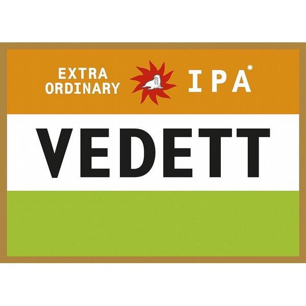Vedett IPA Round Fish Eye Badge