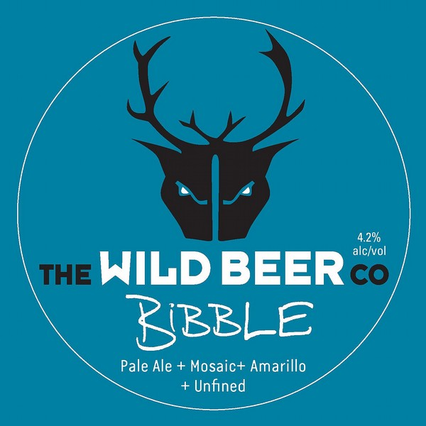 Wild Beer Co Bibble Round Flat Tap Badge