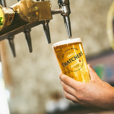 Thatchers are pledging up to £1 million of cider to help the pub and bar industry