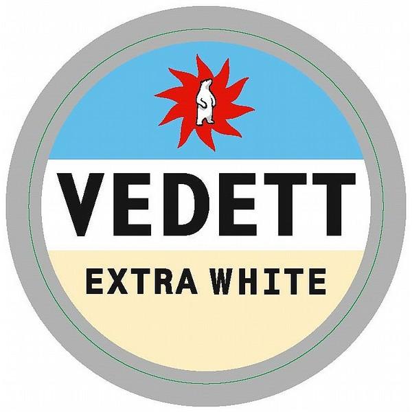 Vedett White Oval Fish Eye Badge