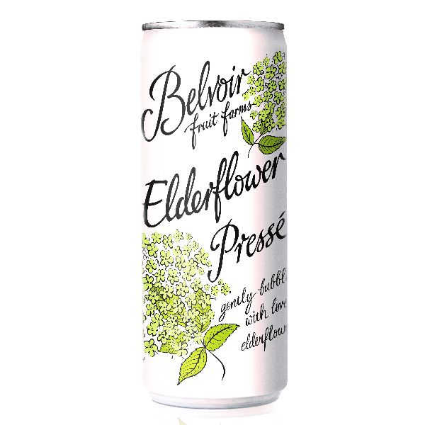 Belvoir Elderflower Presse Cans