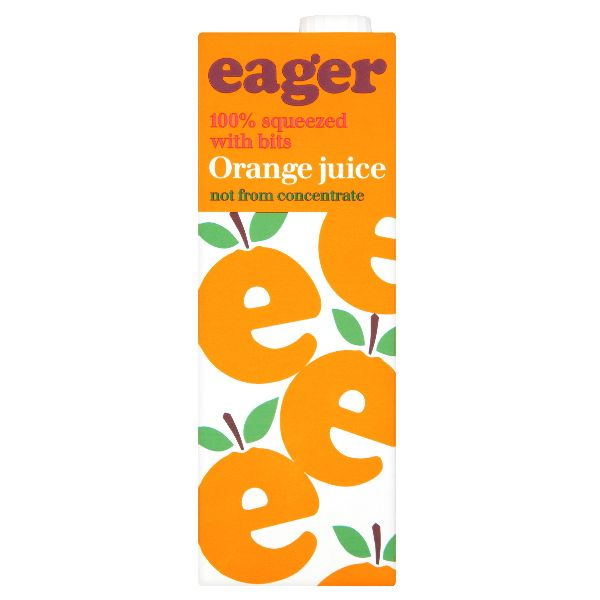 Eager Orange Juice with bits