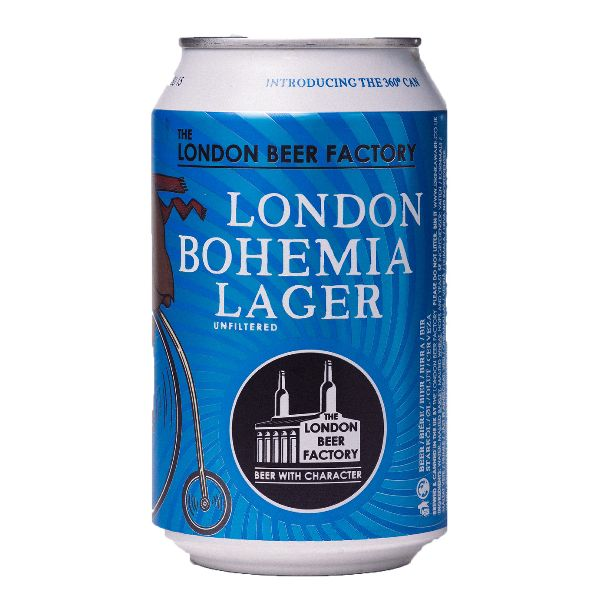 London Beer Factory Bohemia Lager Cans