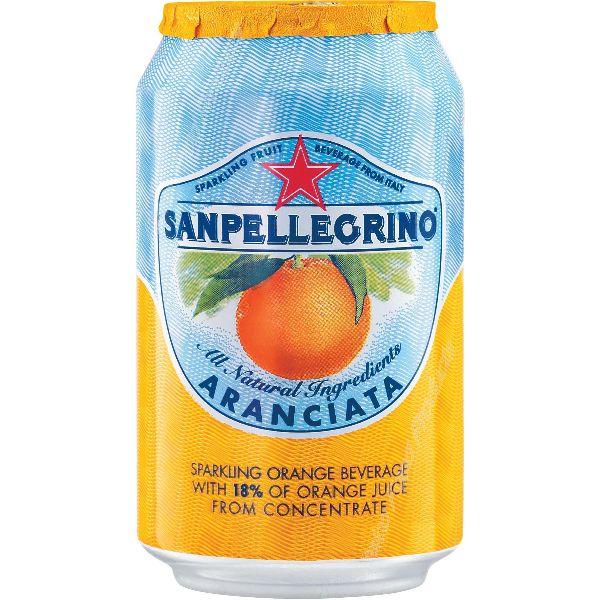 San Pellegrino Orange Cans