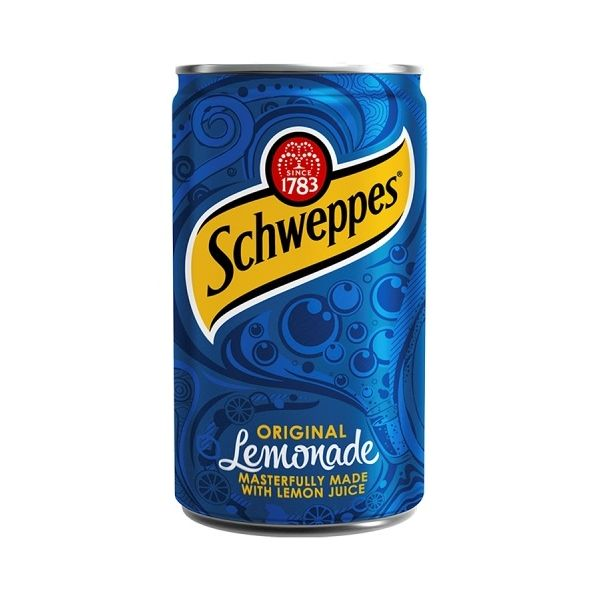 Schweppes Lemonade Travel Cans