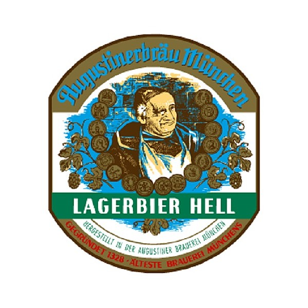 Augustiner Hell Round Badge
