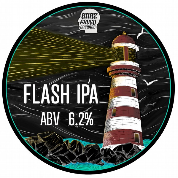 Barefaced Brewing Flash IPA Pump Clip