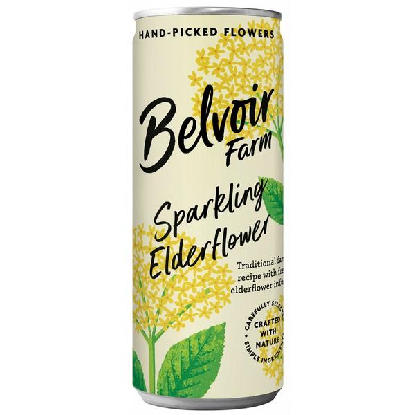 Belvoir Elderflower Presse Cans