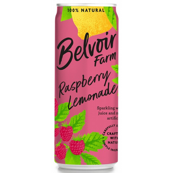 Belvoir Raspberry Lemonade Cans
