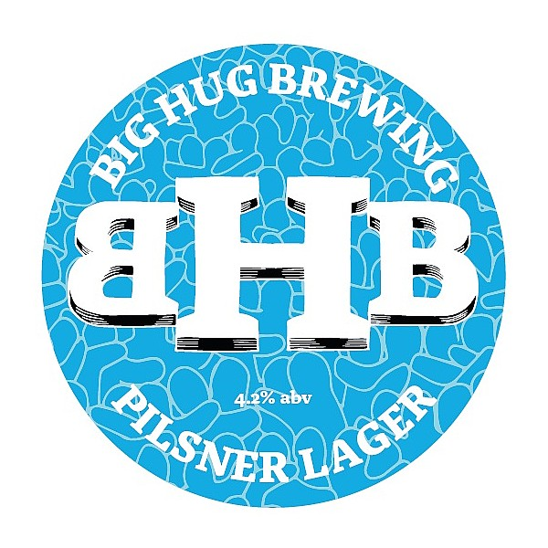 Big Hug Pilsner Lager Oval Flat Badge