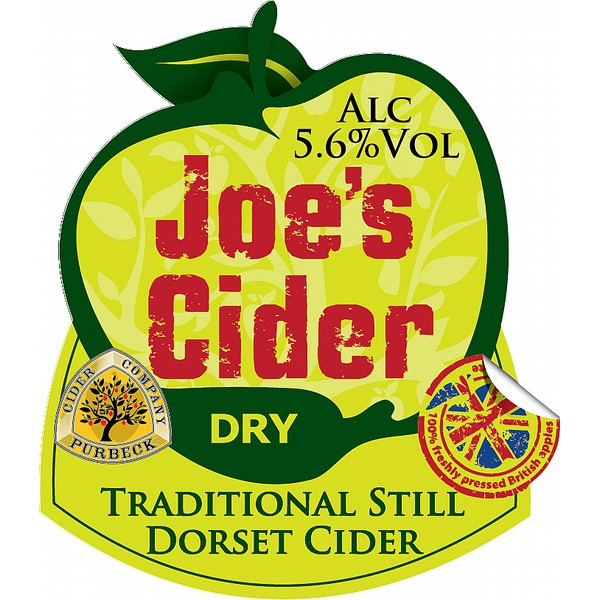 Purbeck Joe's Dry Cider Flat Badge