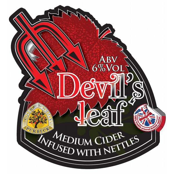 Purbeck Devil's Leaf Flat Badge