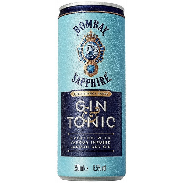 Bombay Sapphire & Tonic Cans