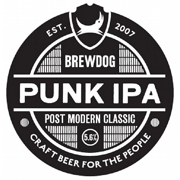 Brewdog Punk IPA Round Badge