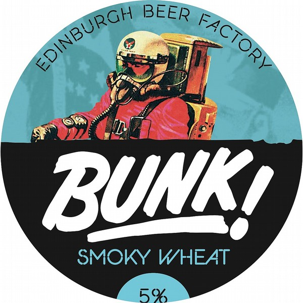 BUNK! Smoky Wheat Oval Fisheye Badge