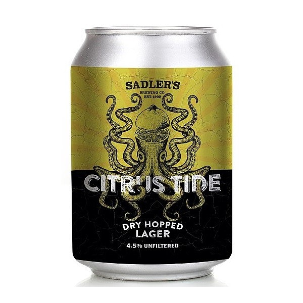Citrus Tide Dry Hopped Lager Cans