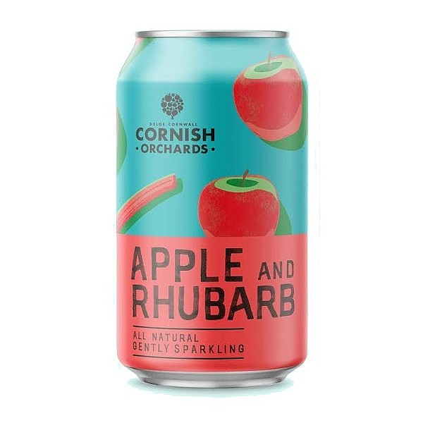 Cornish Orchards Apple & Rhubarb Cans