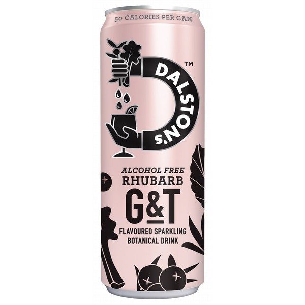 Dalston's Alcohol Free Rhubarb G&T Cans