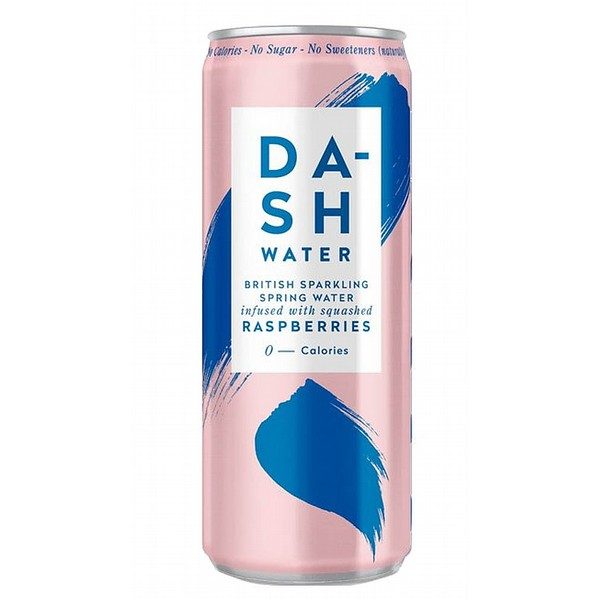 Dash Sparkling Raspberry Cans