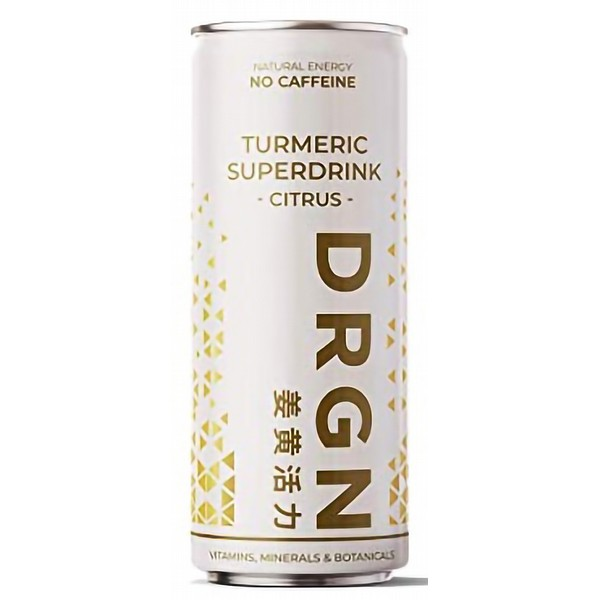 DRGN Turmeric Superdrink Citrus Cans