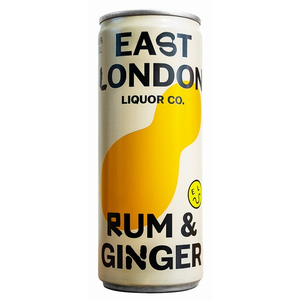 East London Rum & Ginger Cans