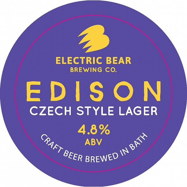 Electric Bear Edison Round Badge