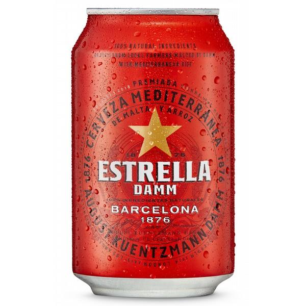 Estrella Damm Cans