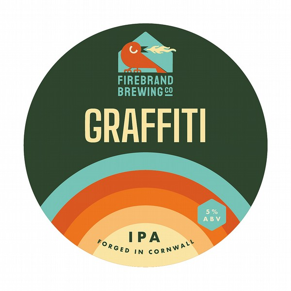 Firebrand Graffiti Round Flat Tap Badge