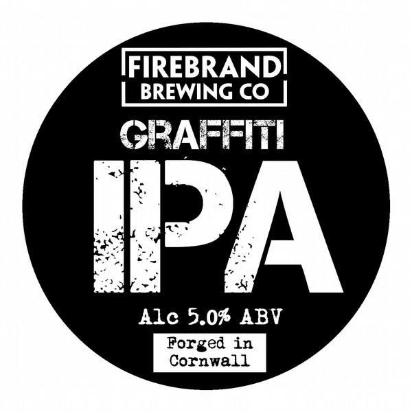 Firebrand Graffiti Round Flat Tap Badge