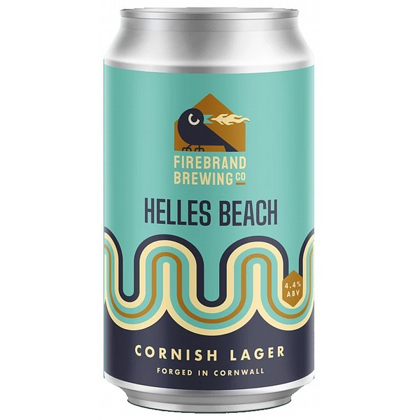 Firebrand Helles Beach Cornish Lager Cans