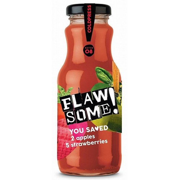 Flawsome! Cold Pressed Apple & Strawberry