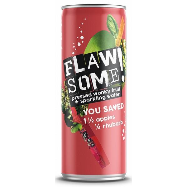 Flawsome! Apple & Rhubarb Sparkling Cans