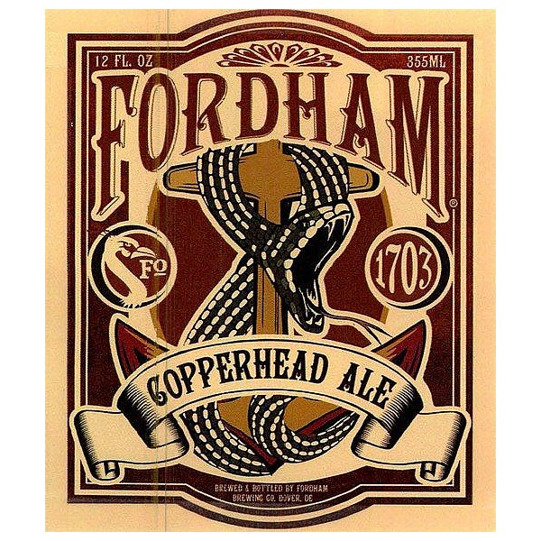 Fordham Copperhead Oval Flat Tap Badge