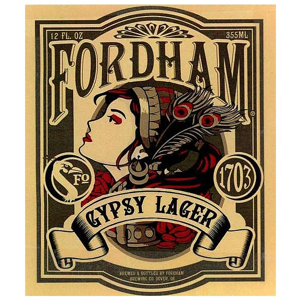 Fordham Gypsy Lager Round Flat Badge