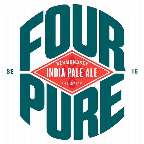 Fourpure India Pale Ale Fish Eye Rnd Badge