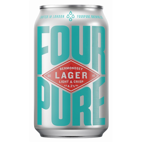 Fourpure Lager  Cans