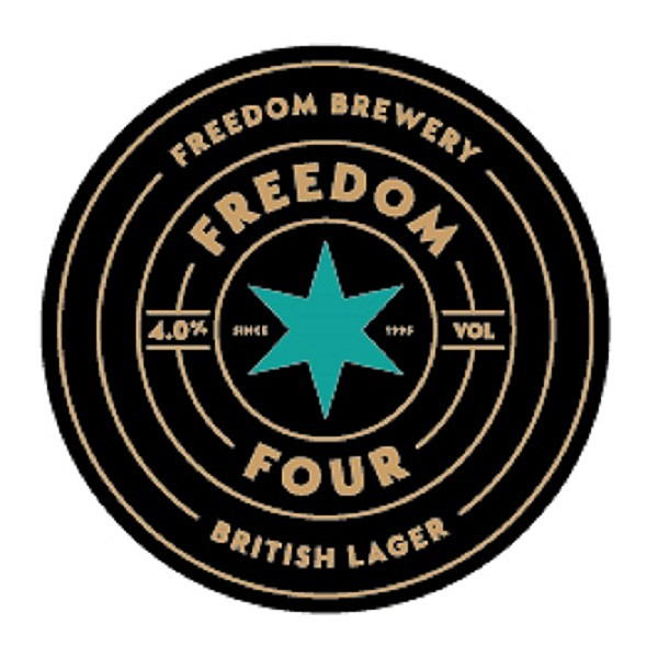 Freedom 4 Round Fish Eye Badge