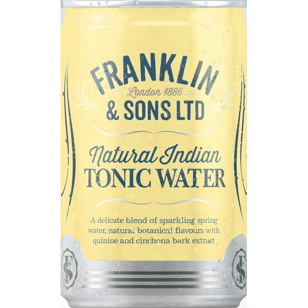 Franklin Indian Tonic Water Travel Cans