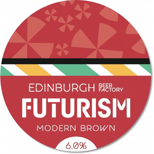 EBF Futurism Modern Brown Ale Round Badge
