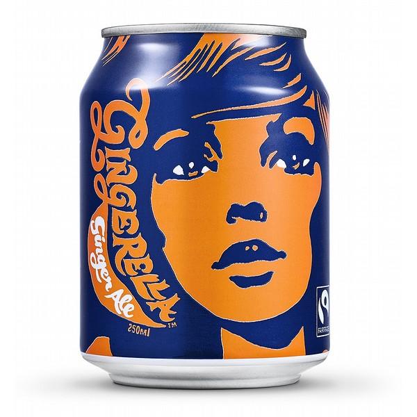 Karma Cola Gingerella Ginger Ale Cans